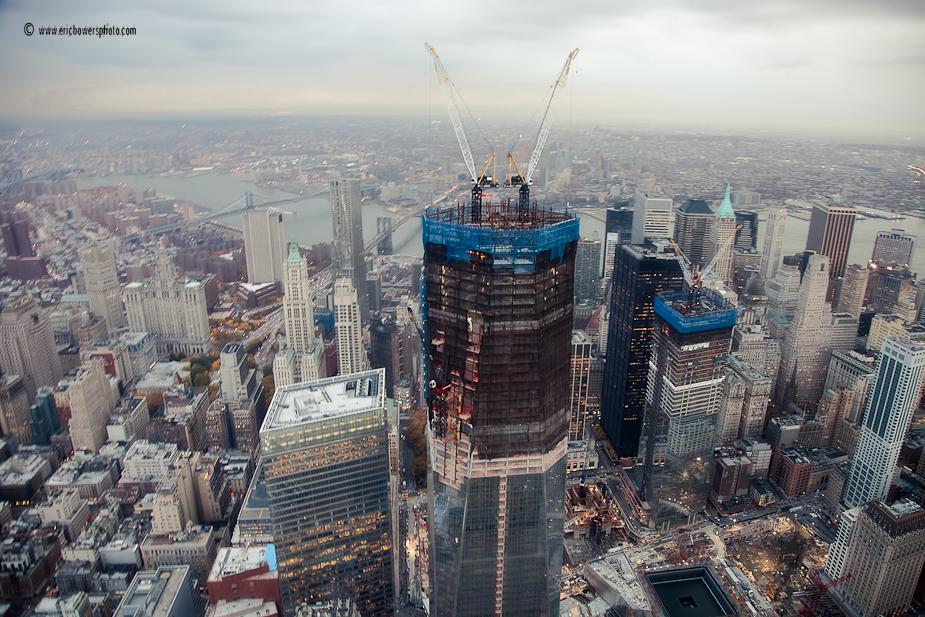World Trade Center Construction : New york one world trade center construction aerials