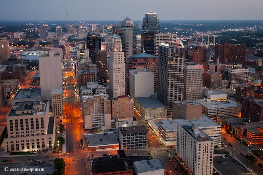 Downtown Kansas City Skyline Aerial Photo Set