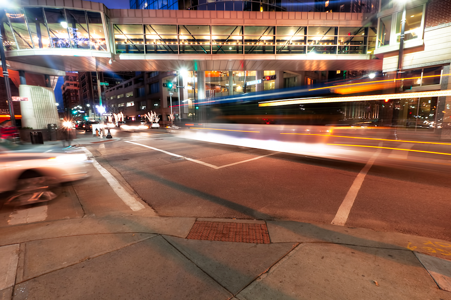 Kansas City Bus Motion Blur