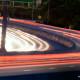 highway traffic motion light trails