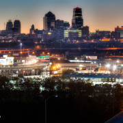City Skyline at Sunrise