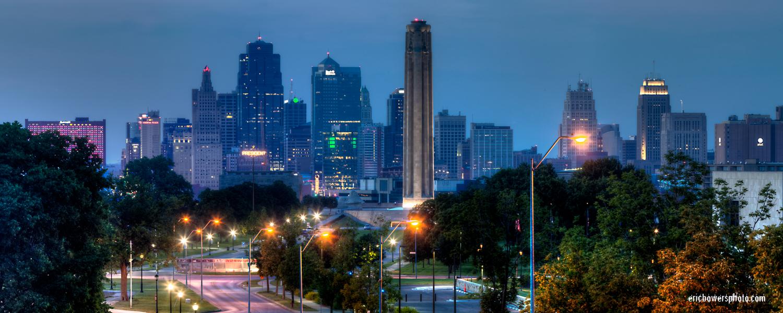 Downtown Kansas City Skyline Panorama Photos