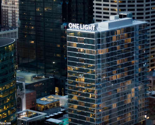 KC One Light Tower Aerial Photography