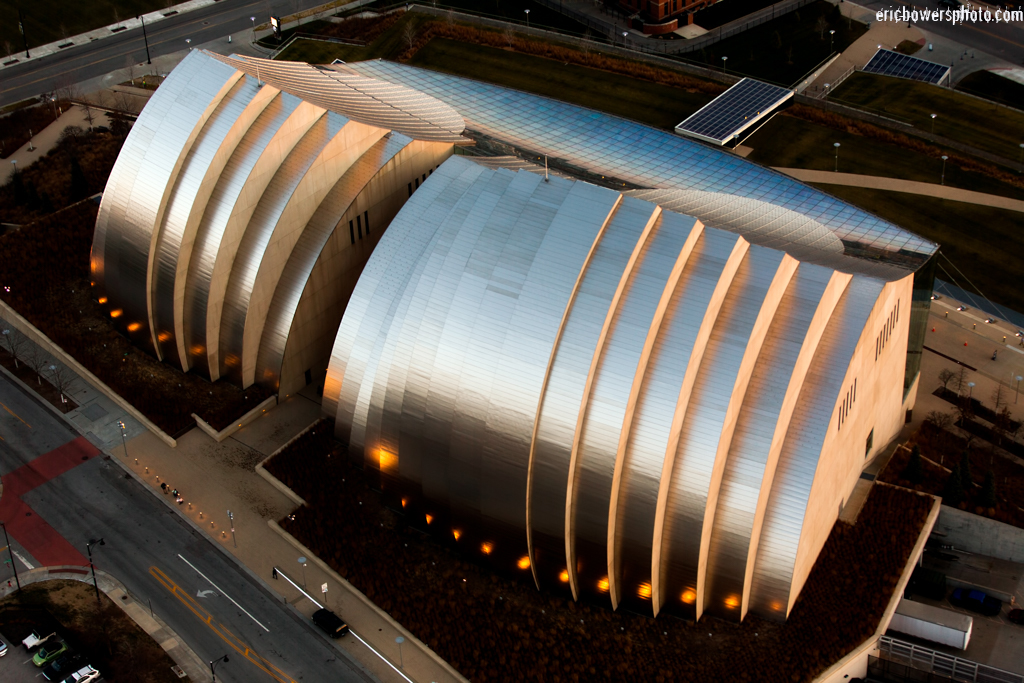 Kauffman Center North Facade Aerial Photos