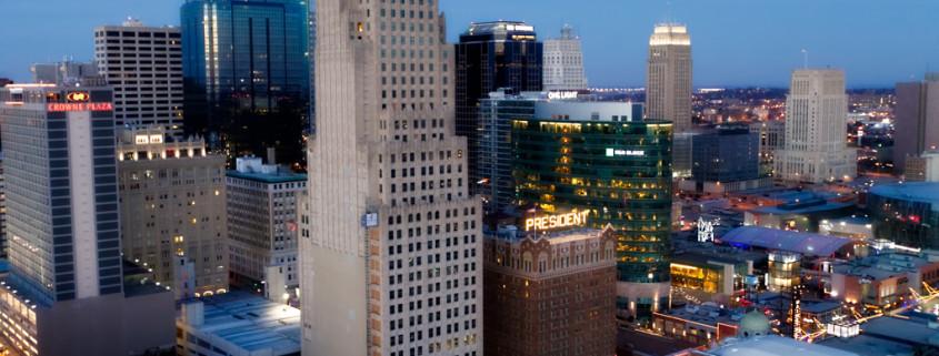KC Power & Light Building Aerial View