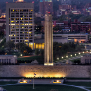 KC Liberty Memorial Sunrise Elevated View