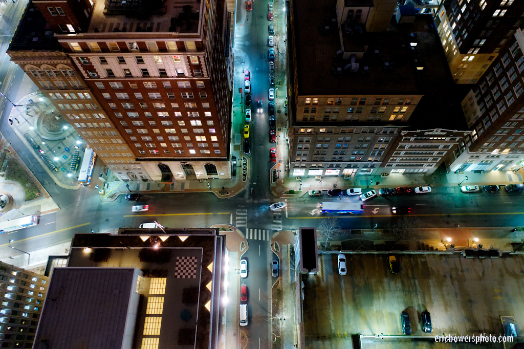 City Streets and Intersections in Downtown Kansas City