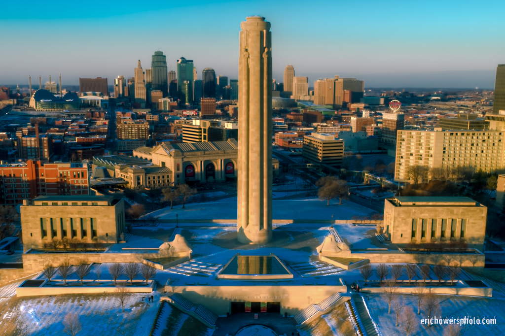 Kansas City's Drone's Eye Aerial View