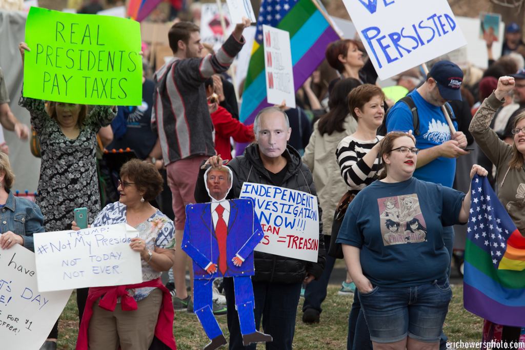 President's Day Protest of Donald Trump in Kansas City