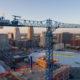 Construction Crane Drone Aerial Close Up Pics