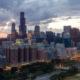 Chicago Loop Skyline Aerial Photo