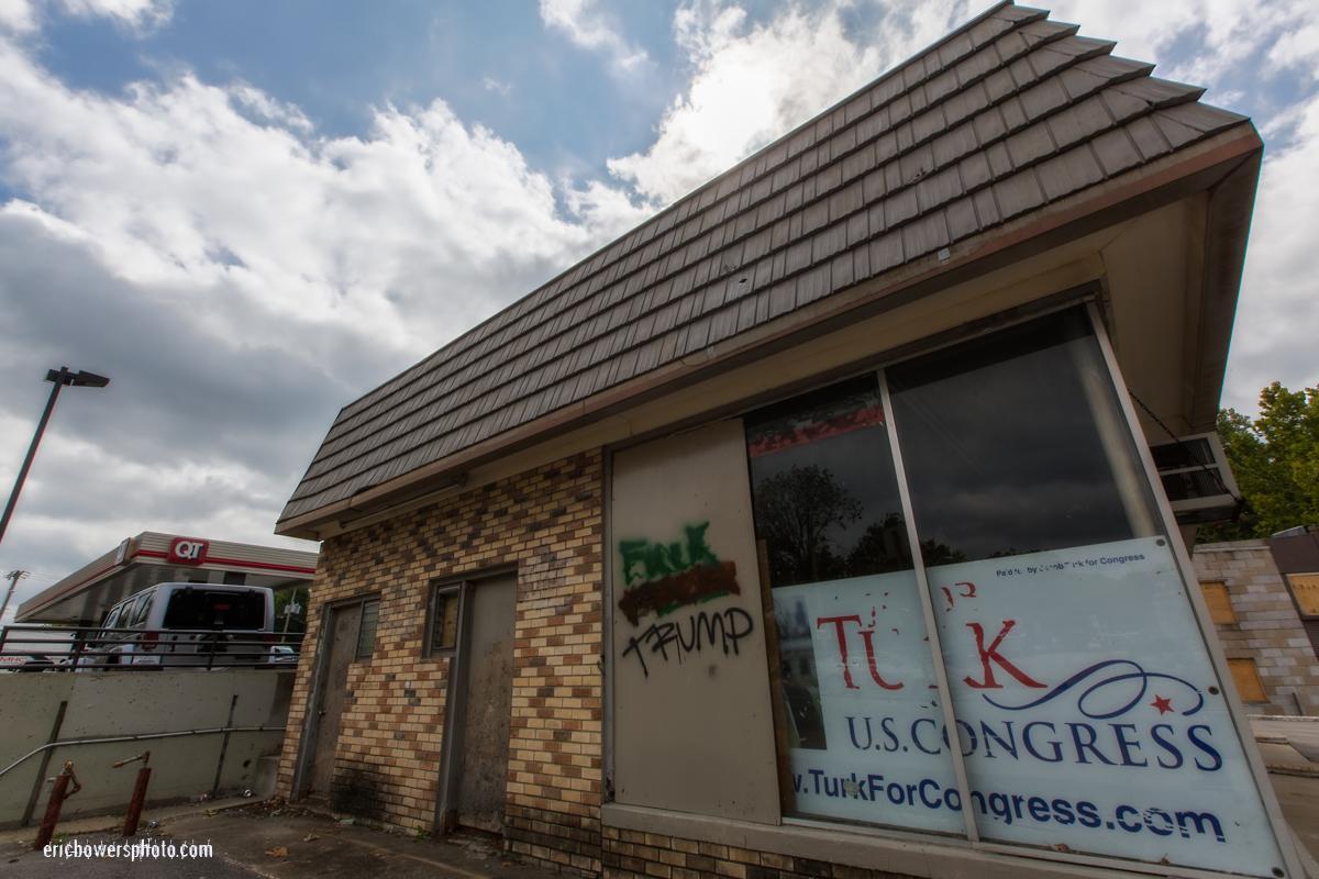 Trump-ism and Anti-Trumpism Wall Scrawl at Kansas City Westport Road