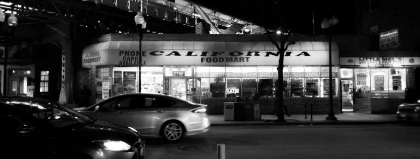 Chicago at Night: Logan Square at California Avenue