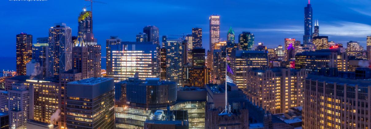 Chicago City Skyline Aerial Photos Pt 12