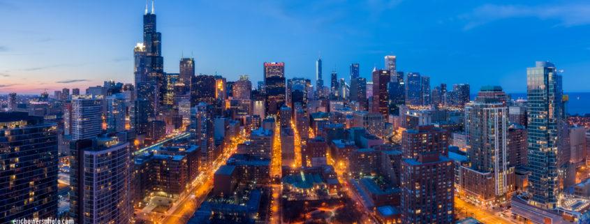 Chicago City Skyline Aerial Photos Pt 7