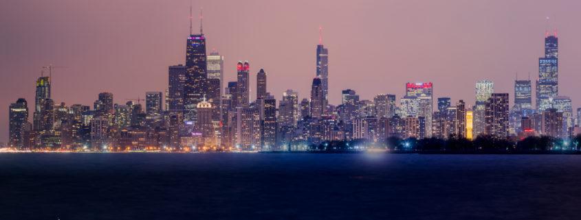 Chicago City Skyline at Night Pt 2
