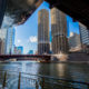Chicago: Marina City Towers from Riverwalk