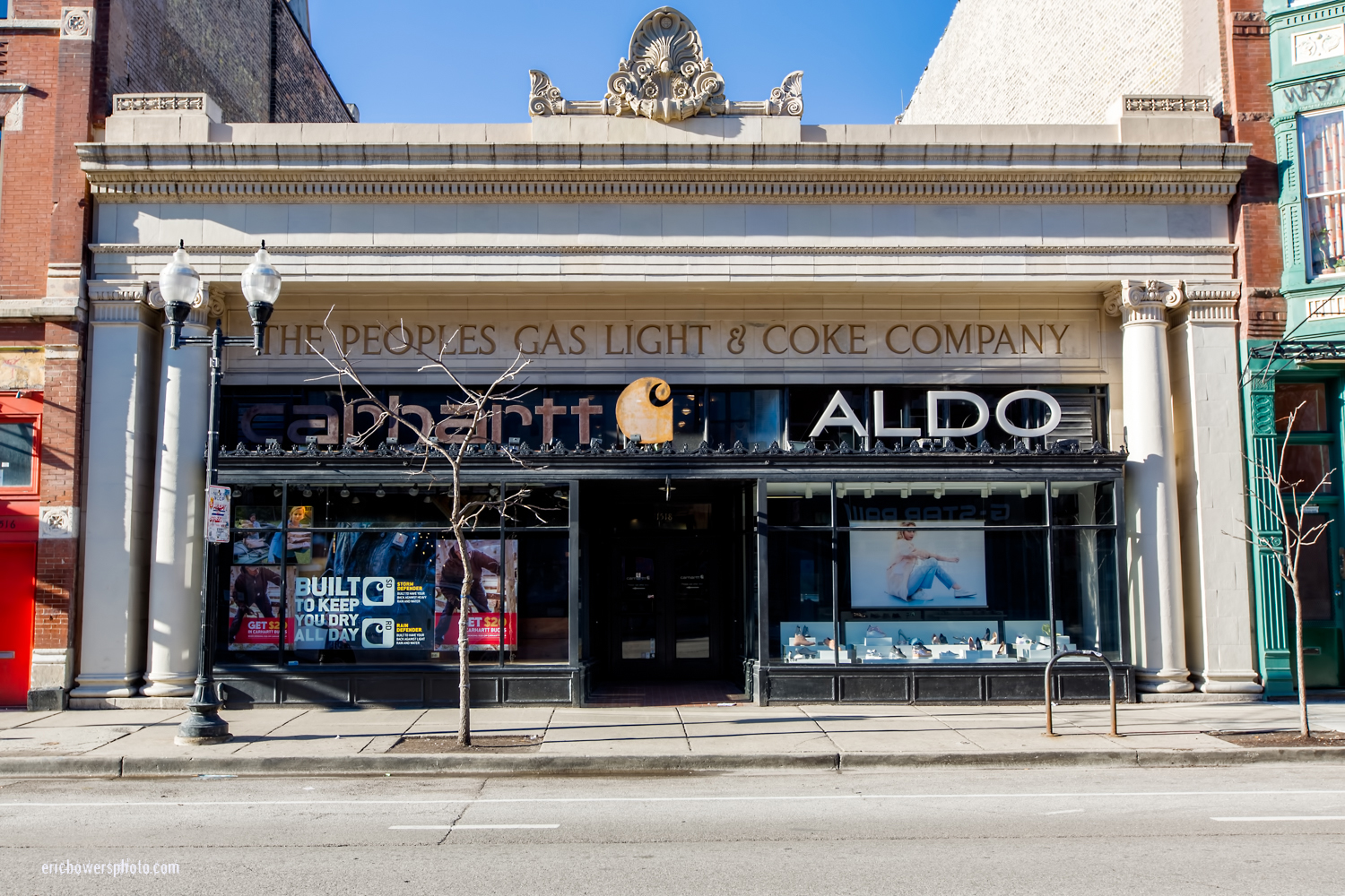 Chicago Historic Storefront Building on Milwaukee Avenue