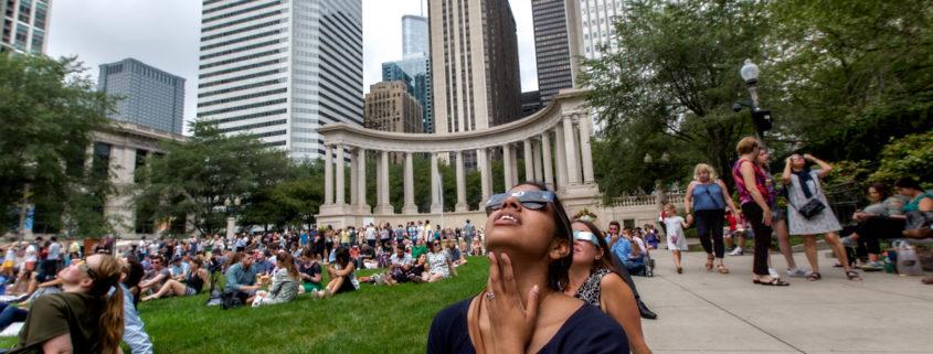 Millennium Park Chicago 2017 Solar Eclipse Viewing