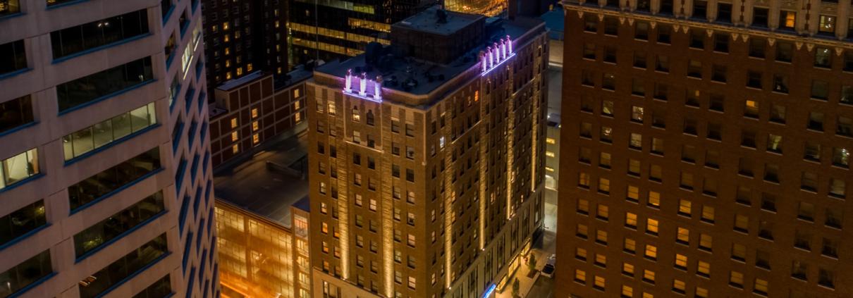 Kansas City Hotel Indigo and Formerly the Brookfield Building