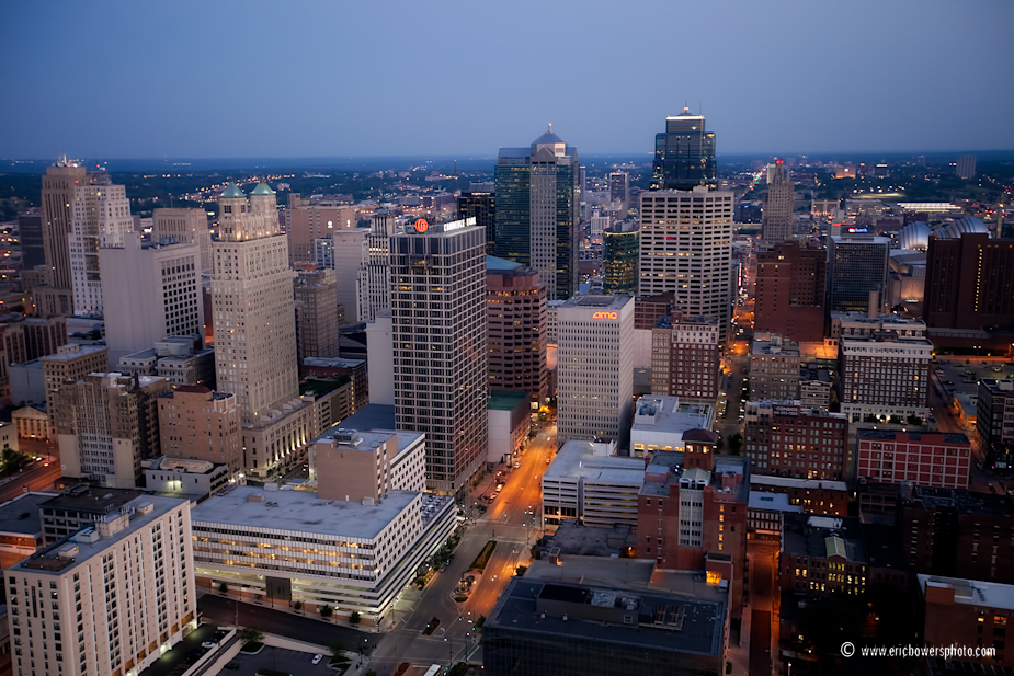 Downtown Kansas City Skyline Aerial Photo Set