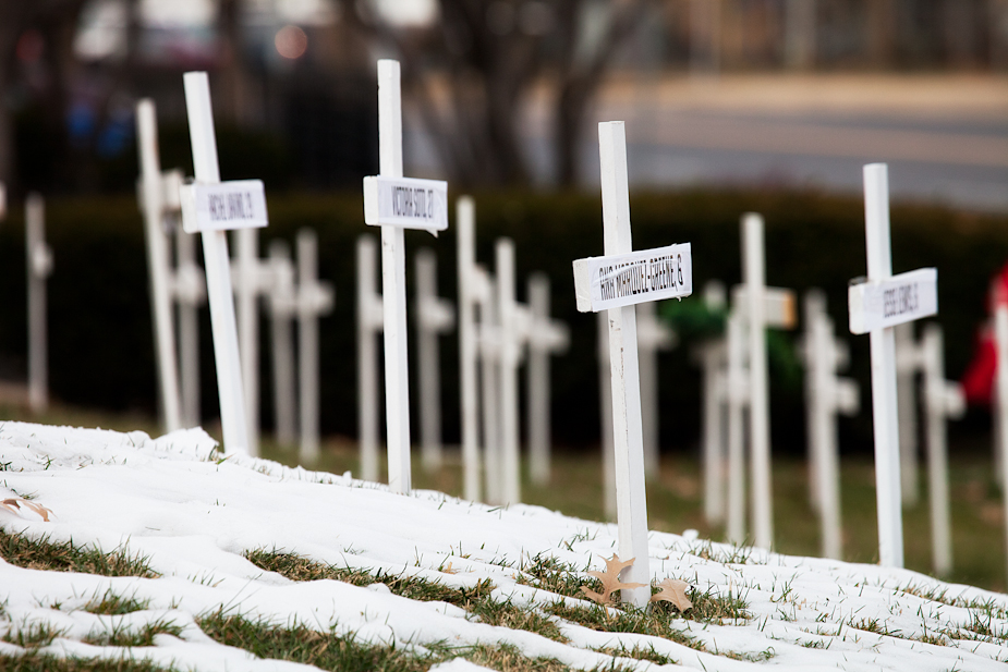 Crosses for murder victims