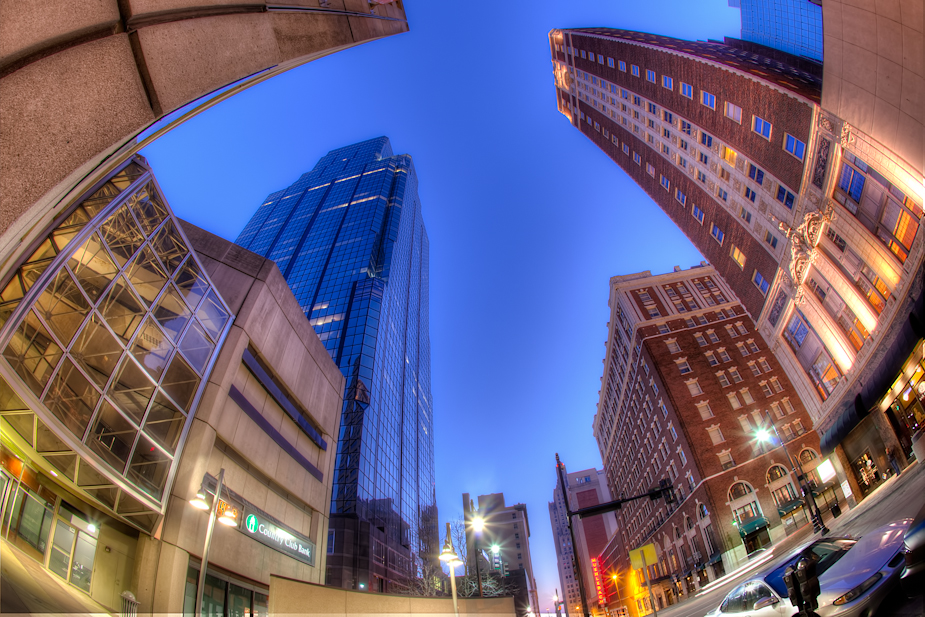 Kansas City Downtown Fisheye