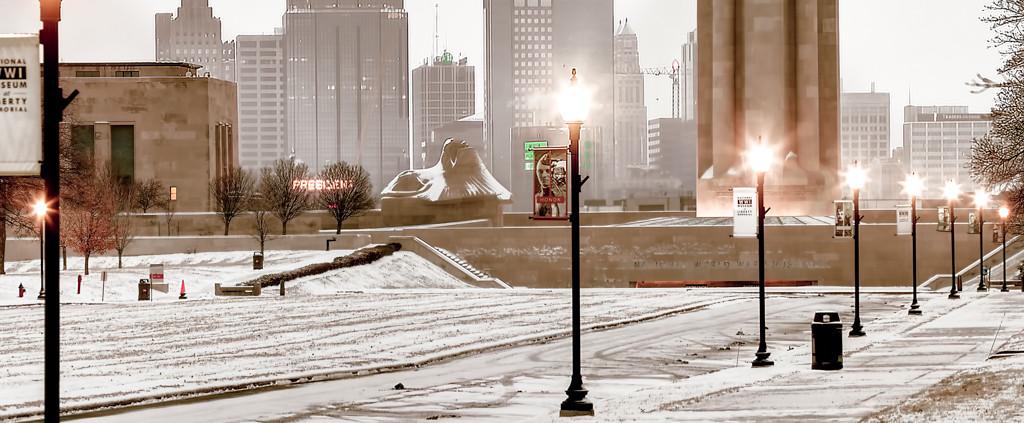 Kansas City Zoomed in Skyline