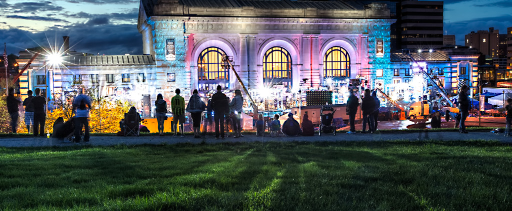 KC's Union Station at Dusk During American Ninja Warrior Tryouts