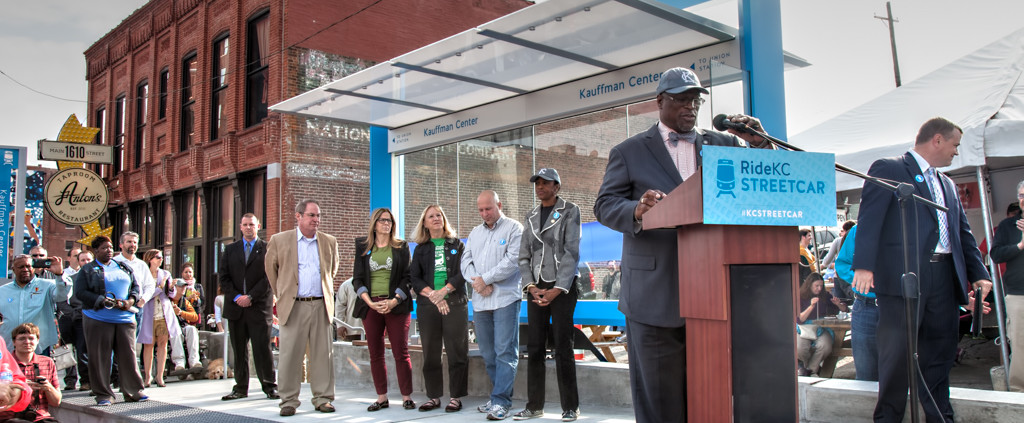 "KC Streetcar ""Party At The Platform"" Ribbon Cutting"