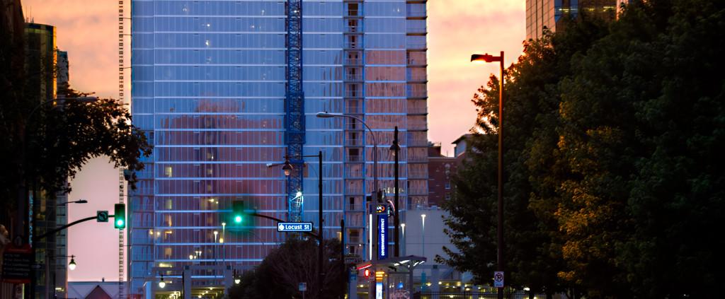High Rise Construction Progress - One Light Tower, Downtown Kansas City