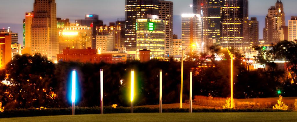 Kansas City MO Skyline at Dusk From Hospital Hill Park
