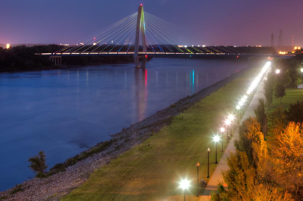 Kit Bond Bridge at Dusk Kansas City