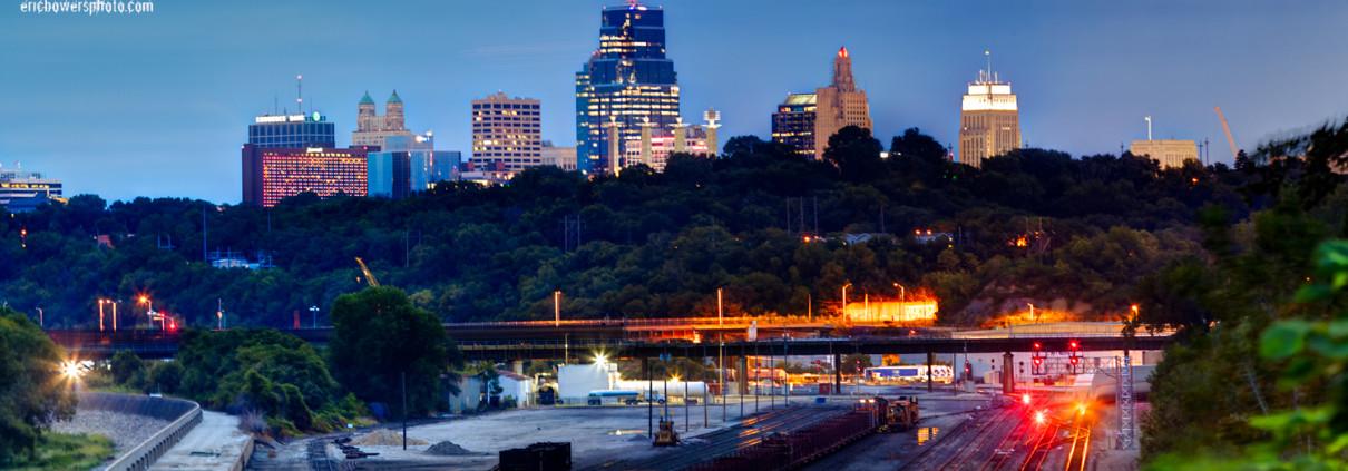 Kansas City Downtown Skyline Panorama