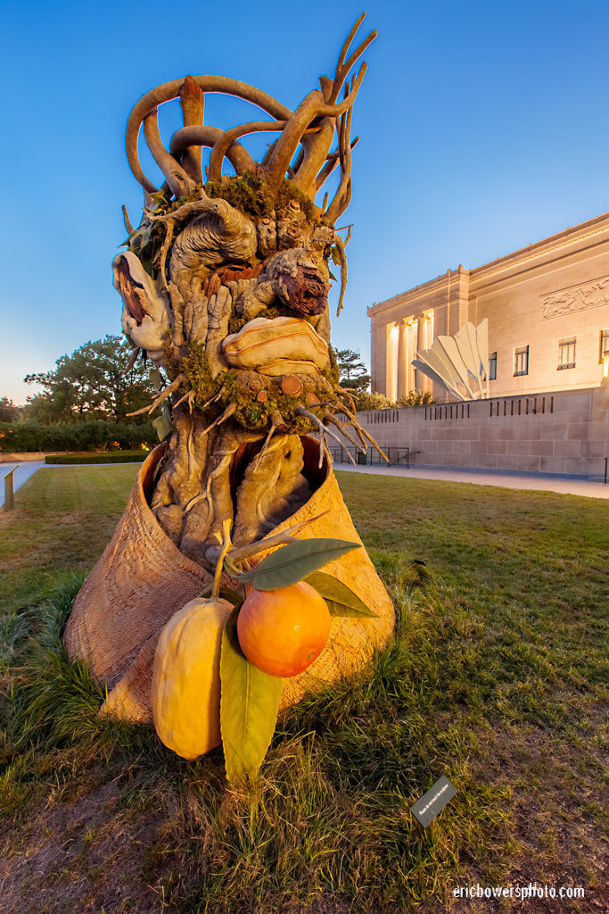Four Seasons Sculptures by Philip Haas at Nelson Atkins Museum in Kansas City