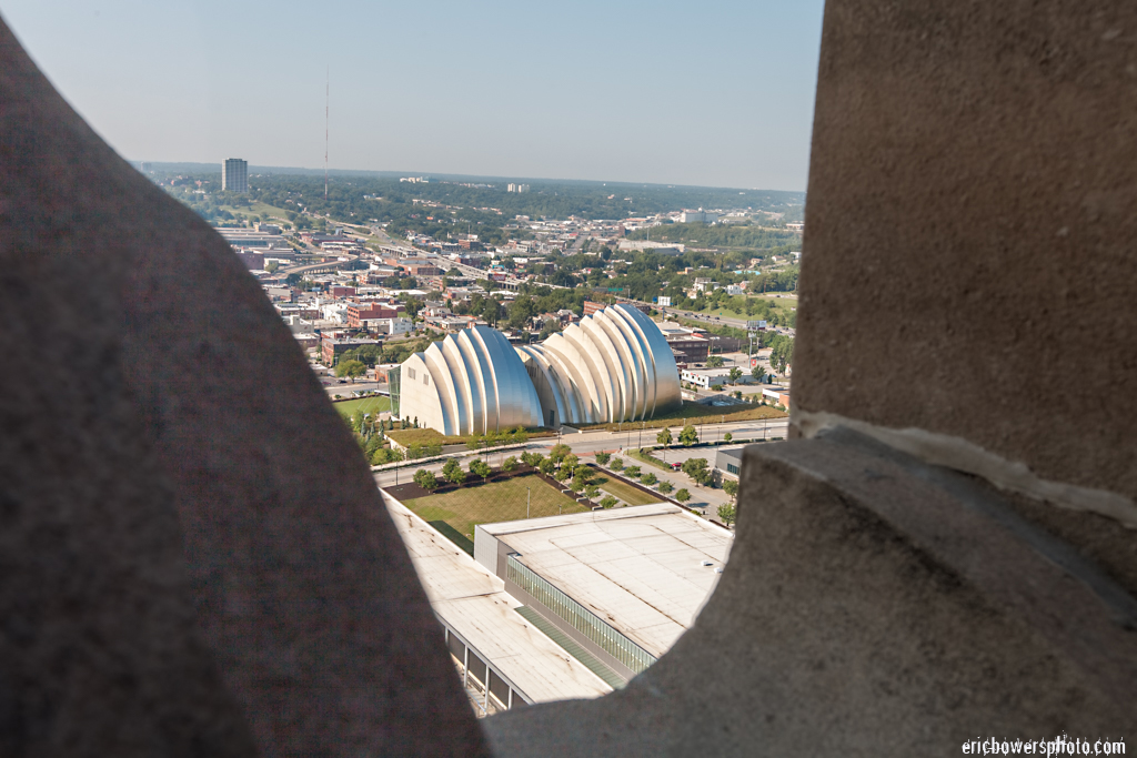 View of Kauffman Center from Power and Light Building Kansas City
