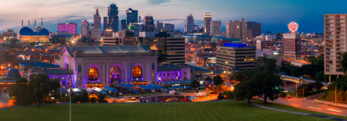 KC Downtown Skyline Panorama Photo