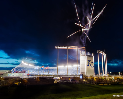 Kauffman Stadium - Royals Win Game 2 of World Series
