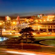 Kansas City Plaza Lights Panorama Photo