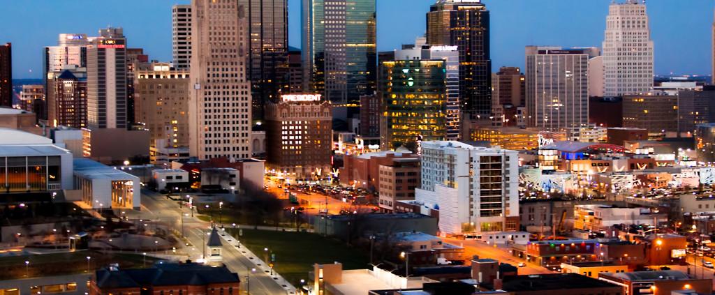 Kansas City Downtown Skyline Aerial Photo