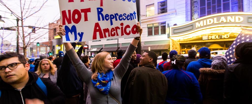 Kansas City's Protest of Donald Trump Rally