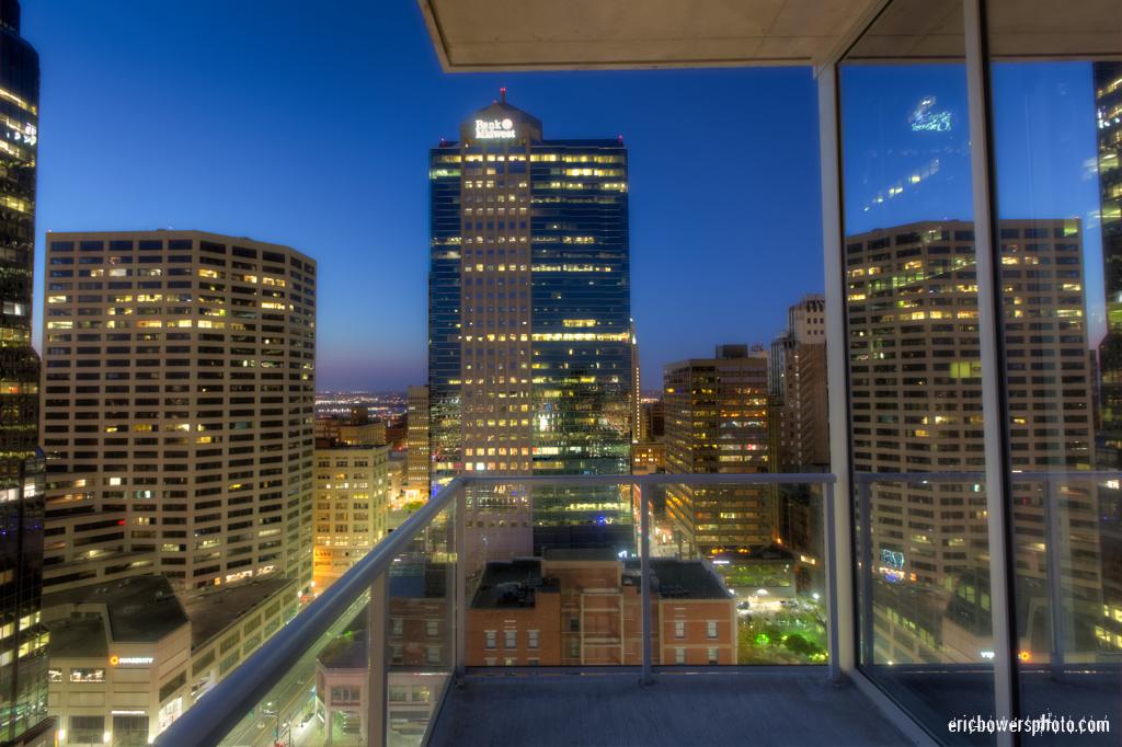 Kansas City Highrise Balcony View at Dusk