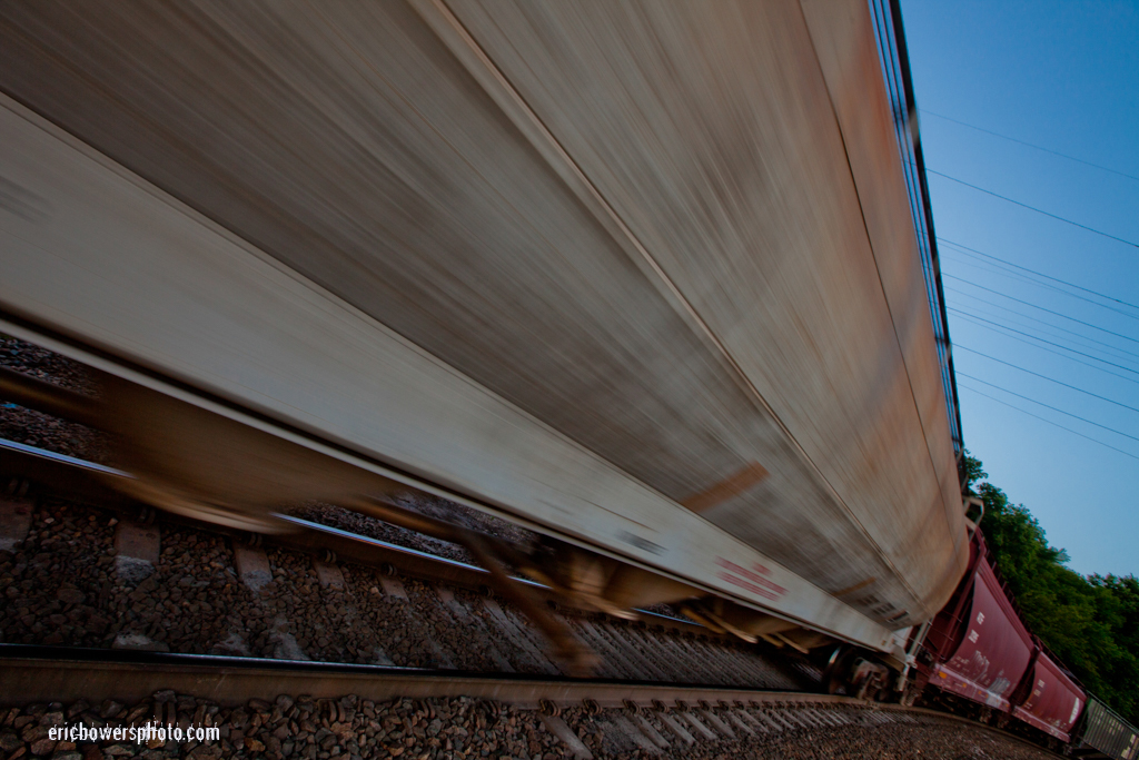 Freight Train Cars in Motion