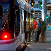 Kansas City Streetcar Night Scenes
