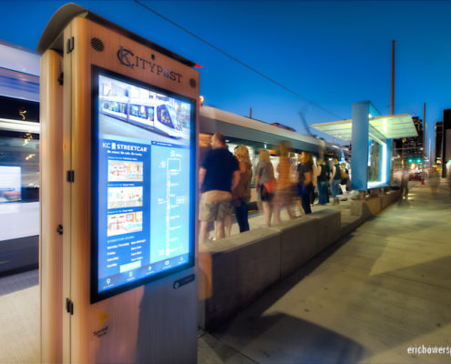 Smart City Post Kiosks with KC Streetcar