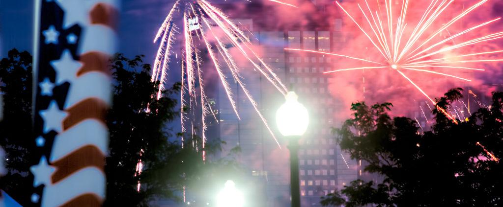 Riverfest Fireworks with Kansas City Skyline