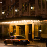 Downtown KC Hotel President on a Rainy Night