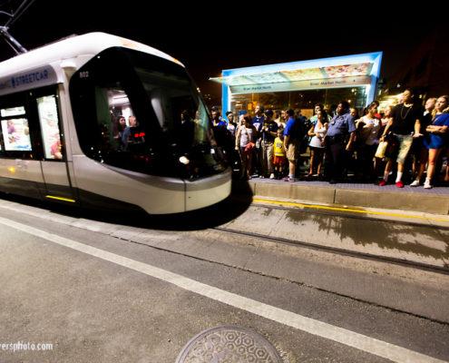 Kansas City Streetcar Platform after 4th of July Riverfest