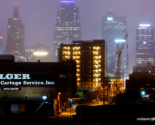 Rainstorm Over Downtown Kansas City