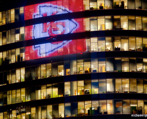 Kansas City Chiefs Highrise LED Display